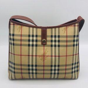 BURBERRY Vintage Haymarket Check Hobo Shoulder Bag